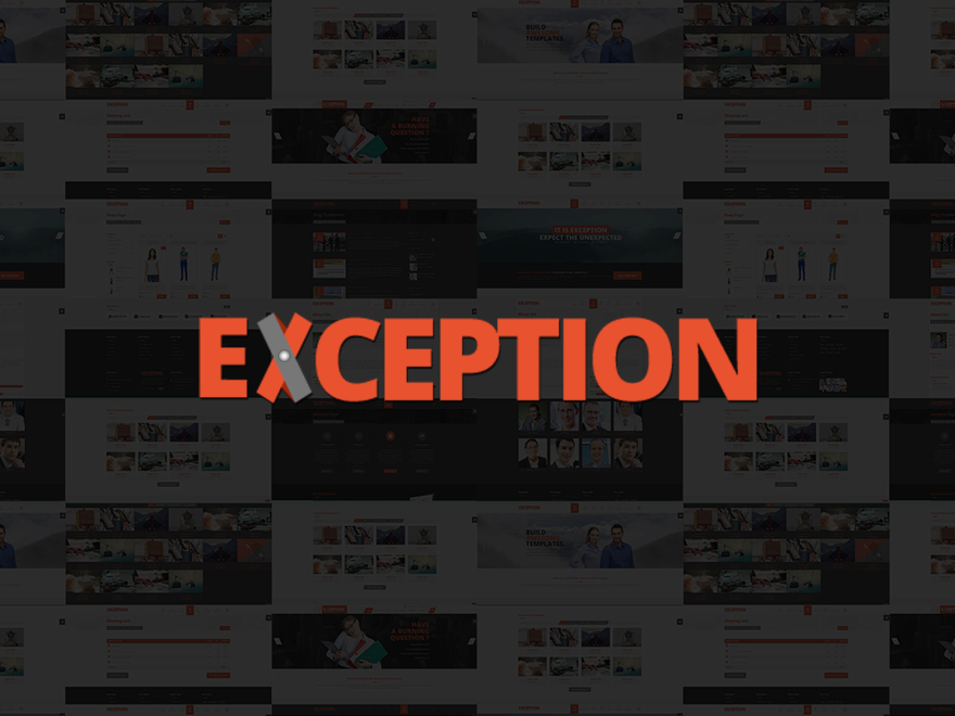 EXCEPTION Responsive Multi Purpose WordPress Theme